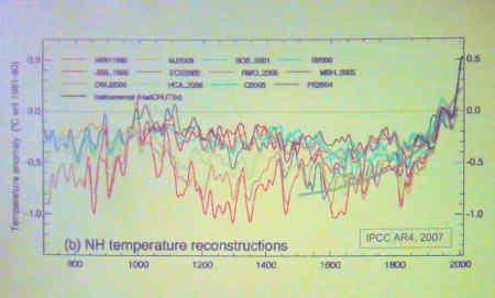 Temperature since 700AD.