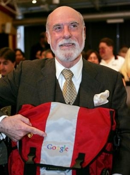 Vint Cerf Google bag.