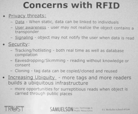 Concern with RFID.
