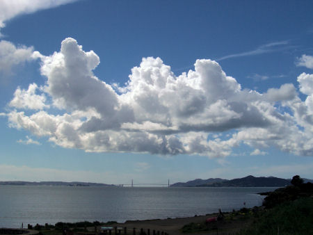 Clouds over the Golden Gate.