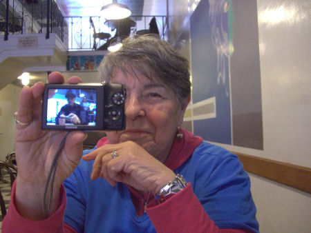 Lois has me on her camera.
