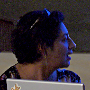Salima Ikram lecturing at UC Berkeley.