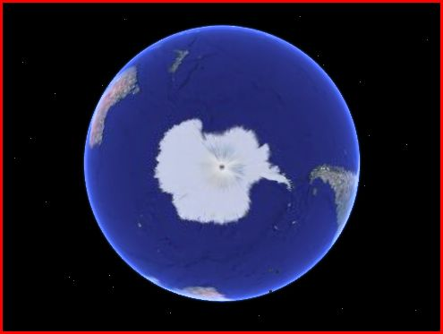 South Pole from Google Earth