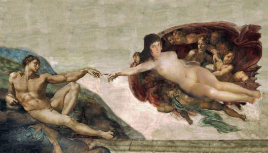 Adam being chosen by emergent women.