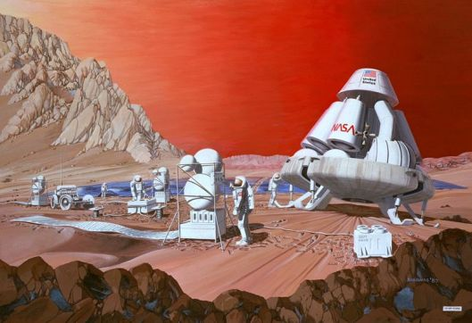 Maned Mars mission