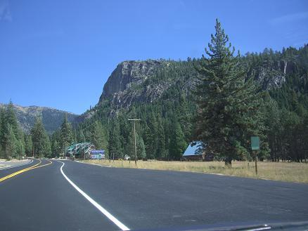 On the road to Lake Tahoe, Strawberry on the right.