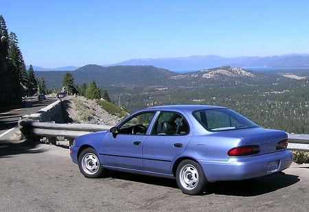 96 Geo Prizm overlooking Lake Tahoe CA
