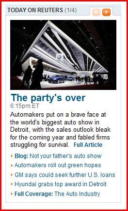 Detroit Auto Show 2009 chooses Hyundai