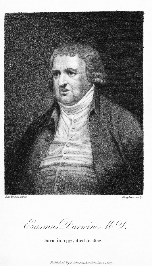 Erasmus Darwin engraved by Moses Haughton
