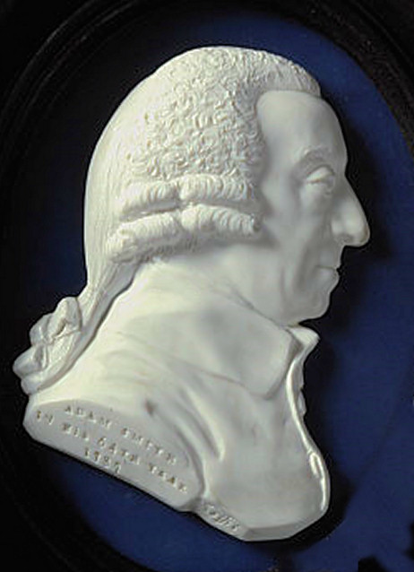Adam Smith author of Wealth of Nations (by James Tassie)