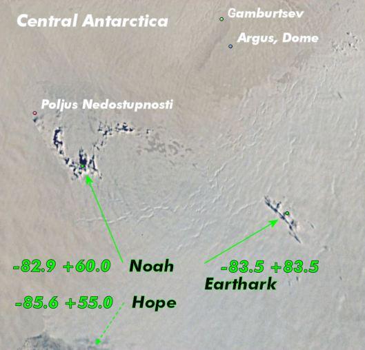 Earthark, Noah and Hope sites