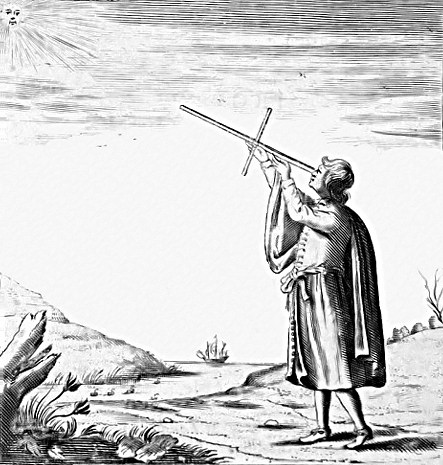 A cross-staff is a staff with a crossing staff for measuring angles.