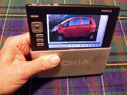 Nokia 770 about to be slid into its storage position