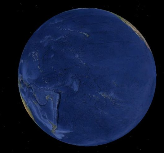 Earth as seen from above Starbuck's Island