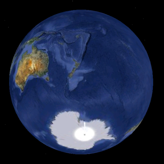 The Earth as viewed from above the Antipodes Islands