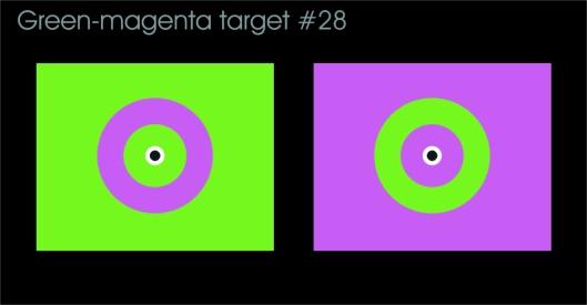 Crosseye green-magenta target #28