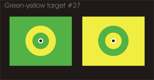 Crosseye green-yellow target #27 for eye fusion experiments