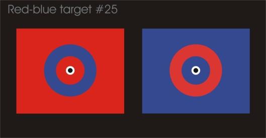Crosseye red-blue target #25