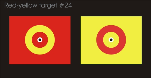 Crosseye red-yellow target #24