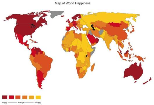Map of happiness