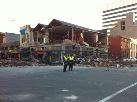 Christchurch earthquake photo of damaged jewelry shop