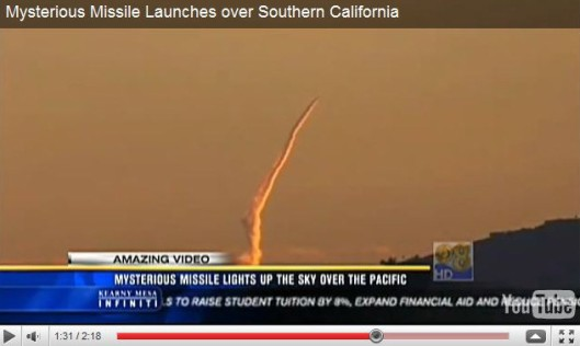 Missile from Los Angeles faked