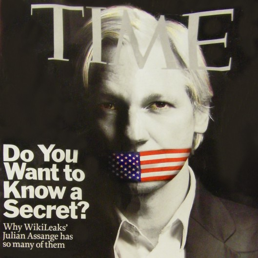 Julian Assange from the cover of TIME magazine Dec 13, 2010
