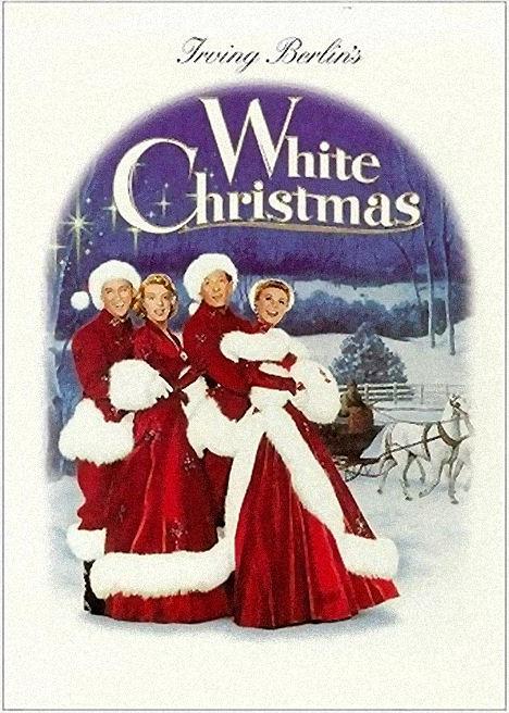 White Christmas poster, Kaye, Clooney, Crosby, Vera-Ellen