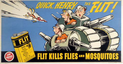 Flit kills flies and mosquitoes