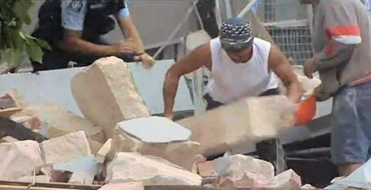 Christchurch man lifts huge stone off a victim