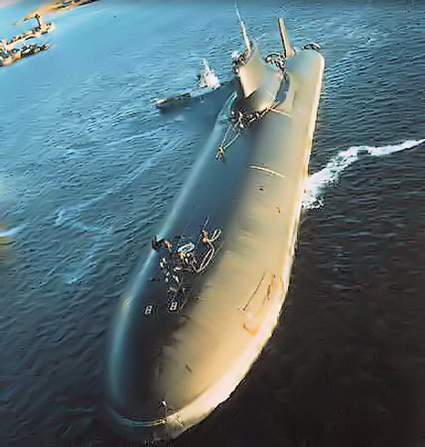 Russian Typhoon submarine