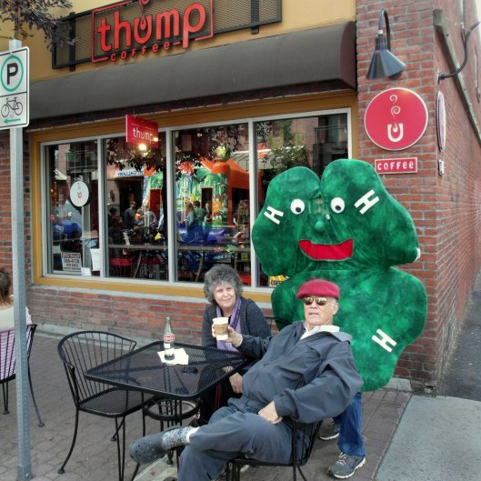 Hanging out at the Thump coffee shop