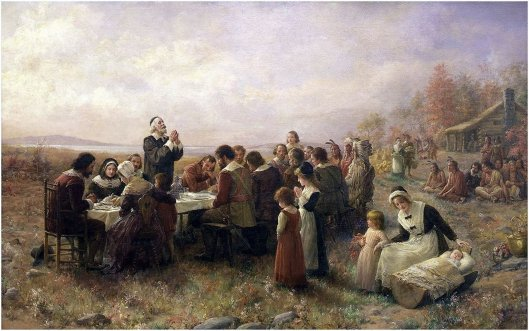 Brownscombe - Pilgrims Thanksgiving