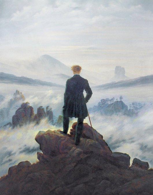 Caspar David Friedrich painting The Wander