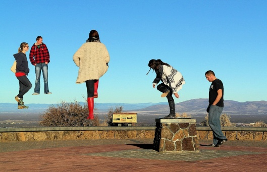 Levitation lessons on top of Pilot Butte, Bend Oregon