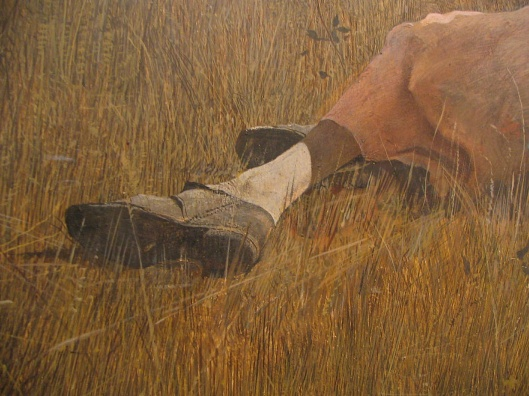 Andrew Wyeth Christinas World detail shoe
