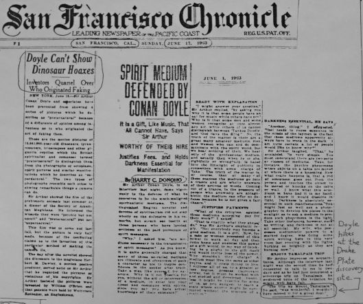 Doyle Faking SF Chronicle