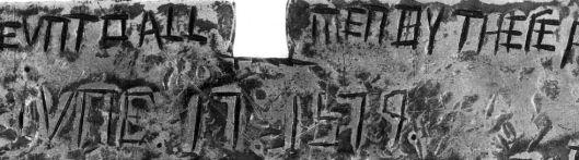 Drake Plate of Brass detail showing June 17 1579