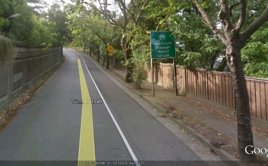Google street view of the spot where the car hit the bicyclists