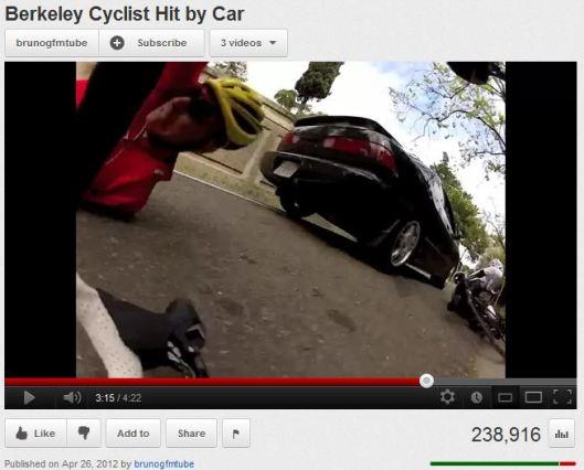 Berkeley car departs downed bicyclists