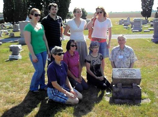 John L Eidemiller gravestone near Covington Ohio