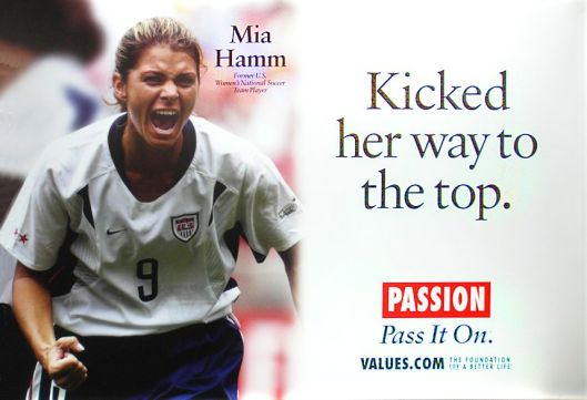 Mia Hamm - Kicked her way to the top