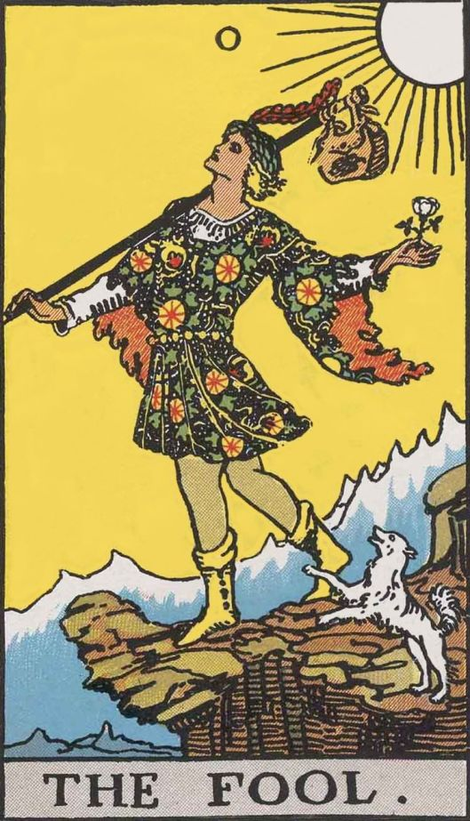 The Fool from Rider-Waite Tarot deck