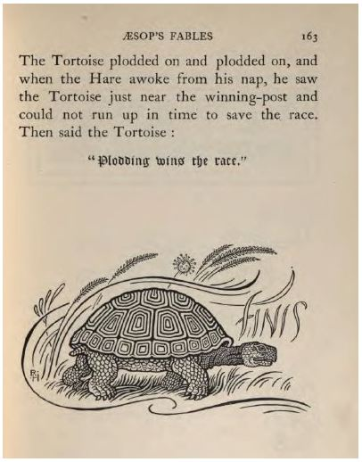 Aesop_Hare and tortoise_