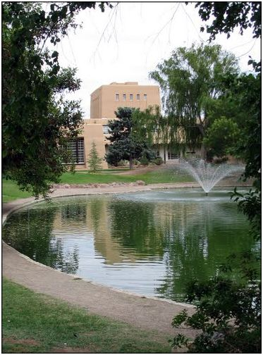 University of New Mexico's Duck Pond is pretty but it looks too artificial.