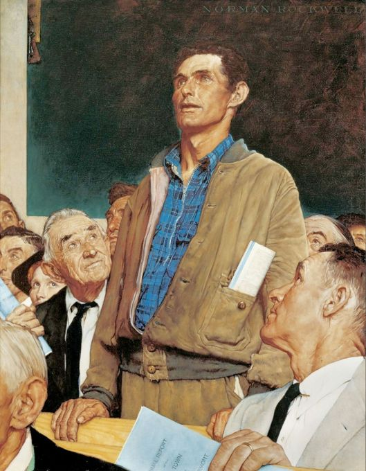 Norman Rockwell's Four Freedoms painting