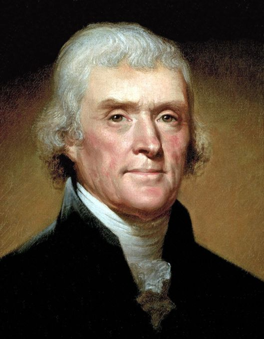 Thomas Jefferson the author of US Declaration of Independence