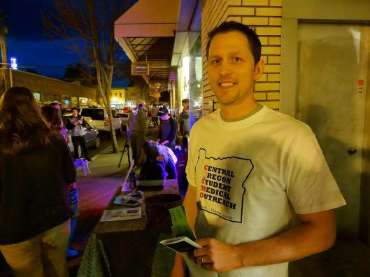 COSMO volunteer, Jason Franklin at Bend's First Friday