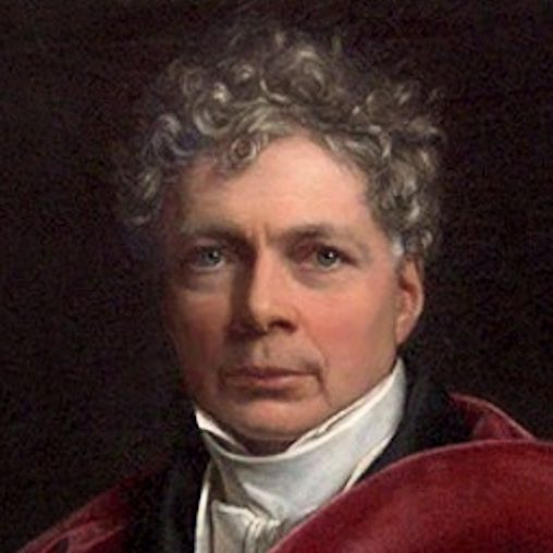 Schelling in 1835 painting by Stieler, cleaned and squared by Charles Scamahorn