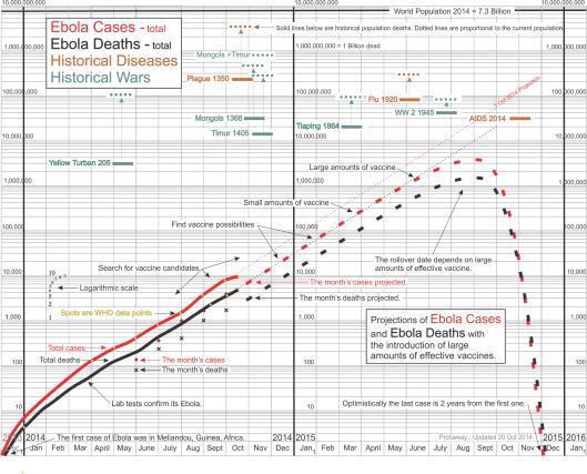 Ebola vaccine human population response